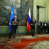 Josep Borrell og Lavrov