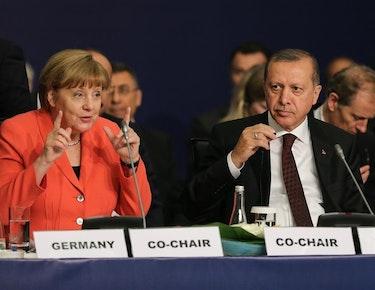 En viktig pådriver for å få på plass migrantavtalen mellom EU og Tyrkia i 2016 var Tysklands forbundskansler Angela Merkel. Nå ser avtalen ut til å være skrinlagt.
