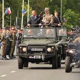 Polens president, Andrzej Duda, under markeringen av grunnlovsdagen 3. mai i år