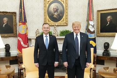 Andrzej Duda og Donald Trump i Det hvite hus