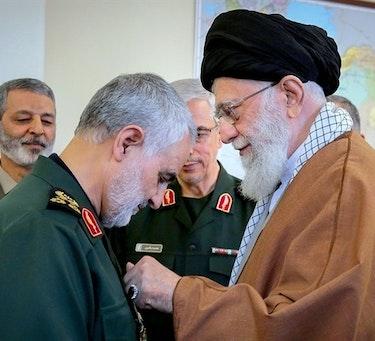Irans styrkede posisjon i Irak og Syria de senere år har i stor grad vært med hjelp fra Qasem Soleimani. I 2019 ble han tildelt Zolfaghar-ordenen, Irans høyeste militærutmerkelse, av ayatollah Ali Khamenei