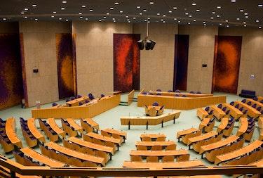 The plenary hall of the Tweede Kamer (