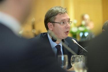 OPPGITT: Serbias president, Aleksandar Vučić, anklaget EU for