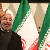 President-elect Hassan Rouhani press conference in Marble Hall, 16 June 2013.