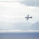 Et Orion P-3N, Hjalmar Riiser-Larsen, fra 333 skvadronen. Foto: Torbjørn Kjosvold / Forsvaret.