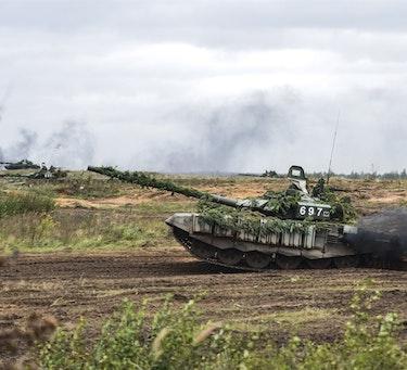 Russiske styrker øver under Zapad-øvelsen i 2017