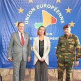 Federica Mogherini, EUs høyrepresentant for utenriks- og sikkerhetspolitikk, besøkte i juni 2017 Mali og EUs operasjon for å trene opp militære styrker i landet, kjent som EUTM Mali