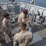 Emiratiske soldater på det amerikanske skipet USS Fort McHenry