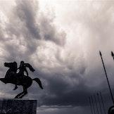 Aleksander den store-statue i Thessaloniki, Hellas