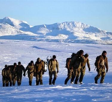 Norske og amerikanske soldater under øvelsen Arctic Specialist i 2017 (Foto: U.S. Navy Page, Flickr CC BY).