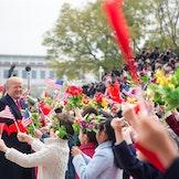 Donald Trump og Xi Jinping under førstnevntes besøk i Kina i 2017