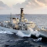 Royal Navy frigate HMS Northumberland.