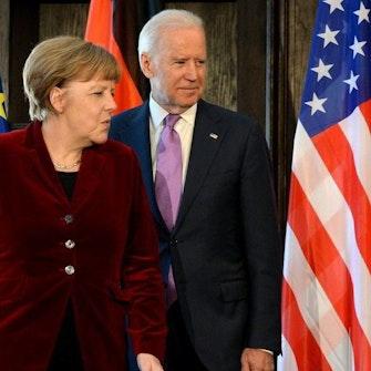 Merkel og Biden