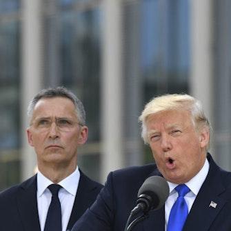 Stoltenberg og Trump